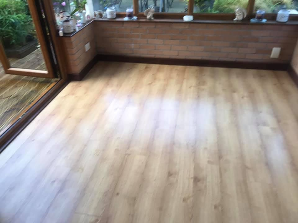 Classic Lamintate Flooring Project in Hamilton