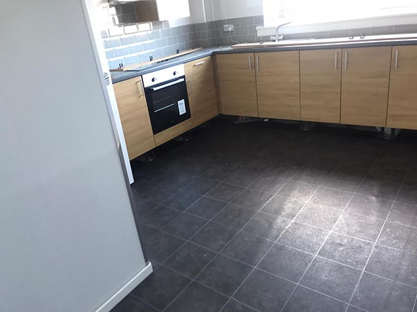 Bathroom and Kitchen Vinyl Flooring Project in Central Scotland