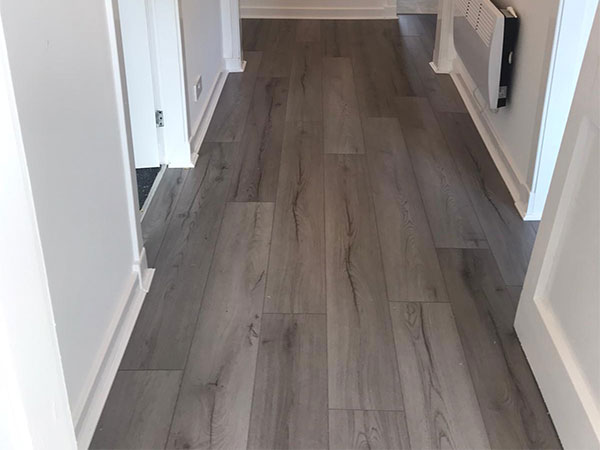 Kitchen, Bedroom and Hall Carpet and Laminate Flooring Project.